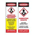 Picture of Asbestos Warning Stickers x48